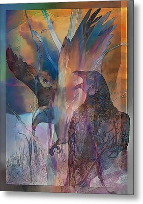 Shaman's Friends Metal Print by Ursula Freer