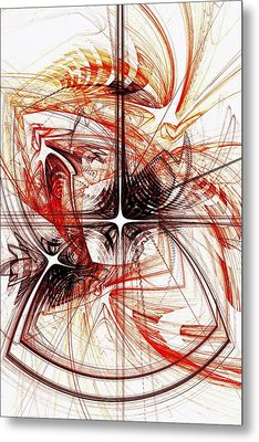 Shapes And Symbols Metal Print by Anastasiya Malakhova