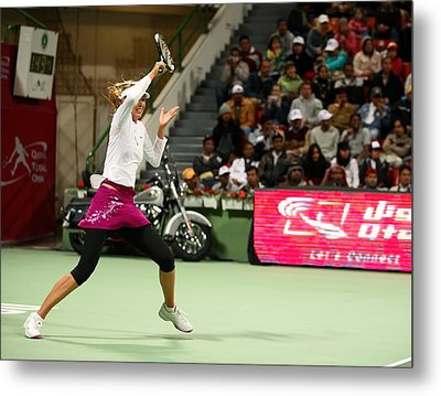 Sharapova At Qatar Open Metal Print by Paul Cowan