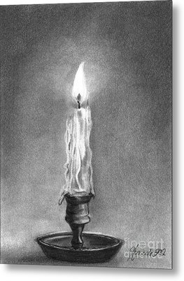 Metal Print featuring the drawing Shared Light by J Ferwerda