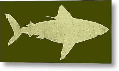 Shark Metal Print by Michelle Calkins