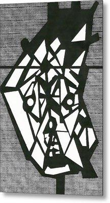 Shatterd Metal Print by David King