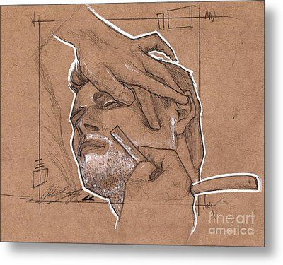 Shave Therapy Metal Print by The Styles Gallery