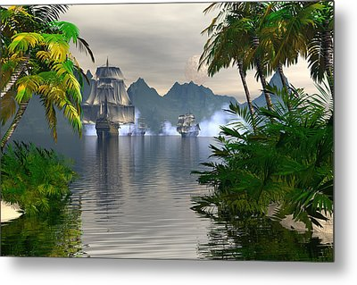 Metal Print featuring the digital art Shelter Harbor Longshot by Claude McCoy