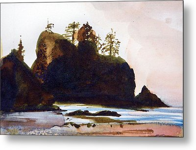 Metal Print featuring the painting Shi-shi Beach by Ed  Heaton