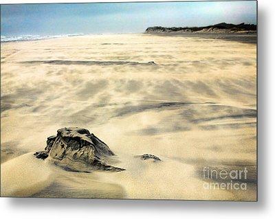 Shifting Sands On Ocracoke Outer Banks Metal Print by Dan Carmichael
