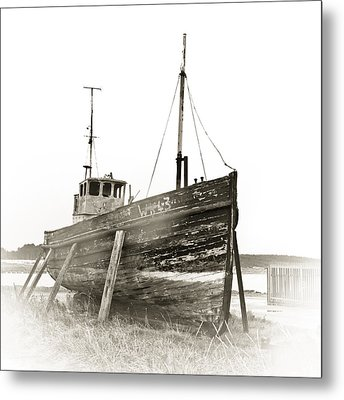 Ship Wreck Metal Print by Tom Gowanlock