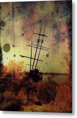 Shipwreck Metal Print by Tracy Munson