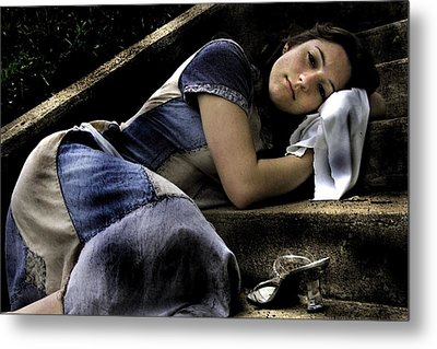 Shoe Crisis Metal Print by Cherie Haines