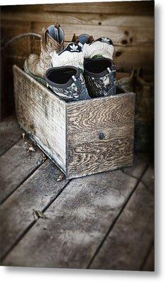 Shoebox Still Life Metal Print by Tom Mc Nemar
