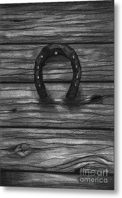 Shoes Of Horses Metal Print by J Ferwerda