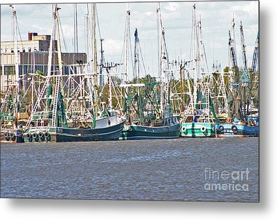 Shrimp Boats 3 Port Arthur Texas Metal Print by D Wallace