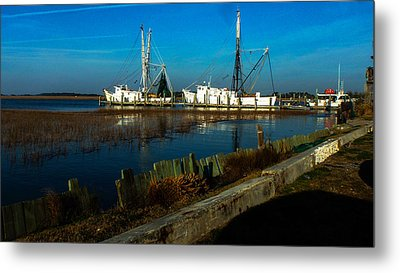 Shrimp Boats Metal Print by Will Burlingham