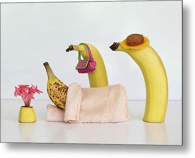 Sick Banana Metal Print