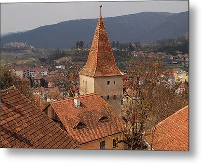 Sighisoara From The Rooftop  Metal Print