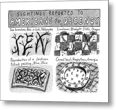 Sightings Reported To Americans For Decency Metal Print
