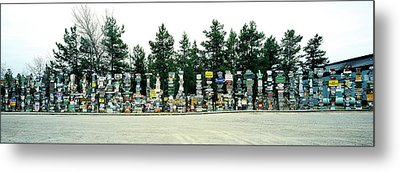 Signposts At The Roadside, Sign Post Metal Print by Panoramic Images