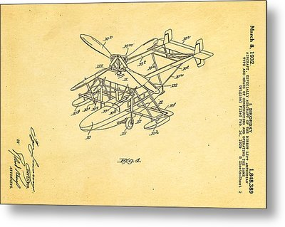 Sikorsky Helicopter Patent Art 2 1932 Metal Print by Ian Monk