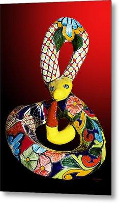 Silly Snake Metal Print by Phyllis Denton