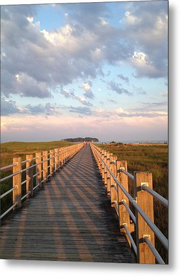 Silver Sands Beach At Sunset Metal Print
