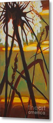 Metal Print featuring the painting Simplicity Of Light by Janet McDonald