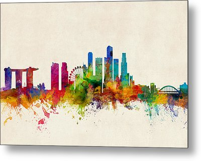 Singapore Skyline Metal Print by Michael Tompsett