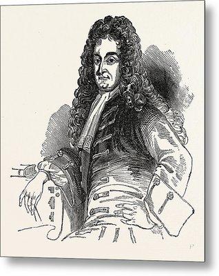 Sir Christopher Wren, London, England, Engraving 19th Metal Print