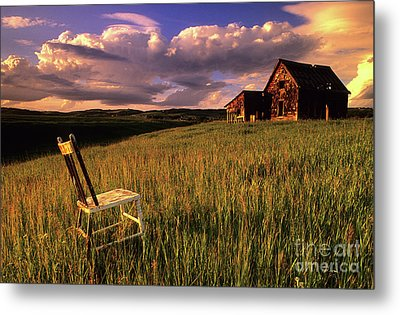 Sit A Spell Metal Print by Bob Christopher
