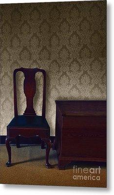 Sitting Room At Dusk Metal Print by Margie Hurwich