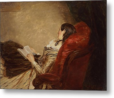 Sketch Of The Artists Wife Asleep Metal Print by William Powell Frith