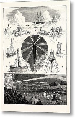 Sketches At The Royal Naval Exhibition 1. H.m.s Metal Print