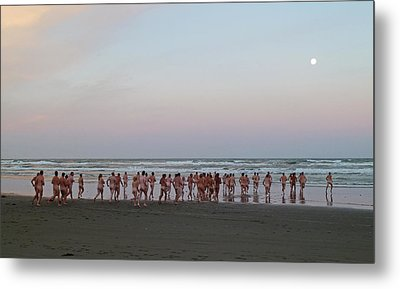 Skinny Dipping Down A Moon Beam Metal Print by Steve Taylor
