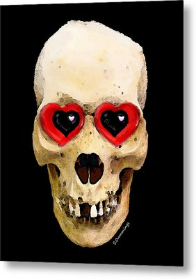 Skull Art - Day Of The Dead 2 Metal Print by Sharon Cummings