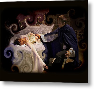 Sleeping Beauty And Prince Metal Print by Angela Castillo