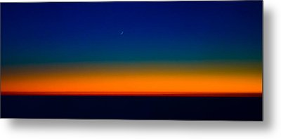 Metal Print featuring the photograph Slice Of Moon In The Night Sky by Don Schwartz