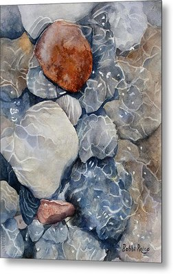 Slippery When Wet Metal Print by Bobbi Price