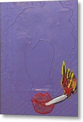Smokers Club Metal Print by Lisa Piper