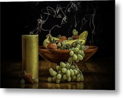 Smokin' Bowl Metal Print by PhotoWorks By Don Hoekwater
