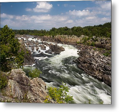 Metal Print featuring the photograph Smooth Flow At Great Falls  by Dale Nelson