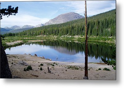 Smooth Lake Reflection Metal Print