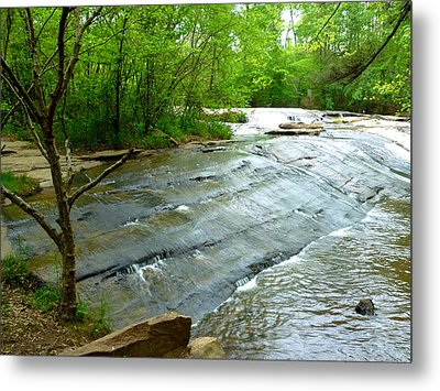 Metal Print featuring the photograph Smooth Waterfall by Pete Trenholm