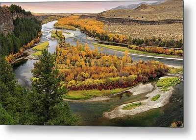 Snake River Autumn Metal Print by Leland D Howard