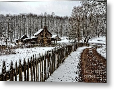 Metal Print featuring the photograph Snow Covered by Brenda Bostic