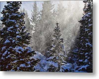 Snow Squalls Metal Print by Jim Garrison