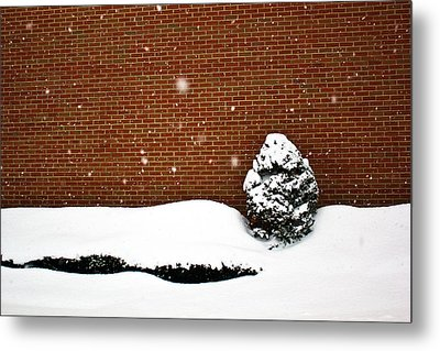 Snow Wall Metal Print