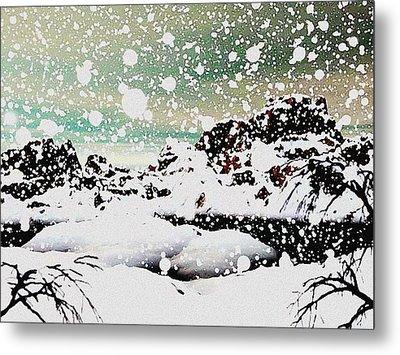 Snowfall Metal Print by Anastasiya Malakhova