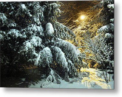 Snowy Abstract Metal Print