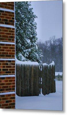 Snowy Corner Metal Print by Steven Ainsworth