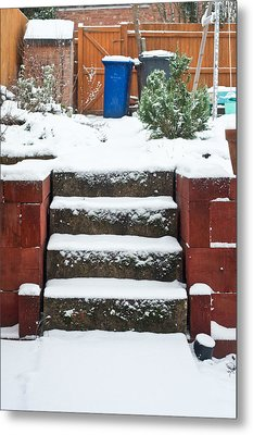 Snowy Garden Metal Print by Tom Gowanlock