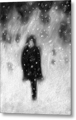 Snowy Night Metal Print by Angie Brown
